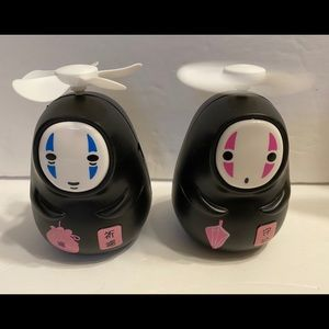 Set Of 2 Spirited Away No-FaceMan Kaonashi MiniFan